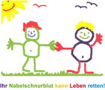 Selbst gemaltes Kinderbild als Dankeschön für die Deutsche Stammzellspenderdatei nach einer gelungenen Nabelschnurblutspende