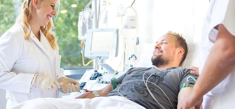 Stammzellspender bei der Stammzellspende